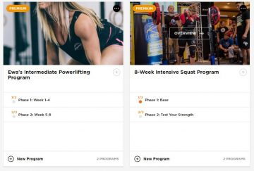 Ewa's Two New Training Cycles: Intermediate Powerlifting